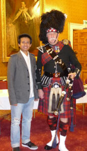 Maung from Burma with Jim at Newbattle Abbey
