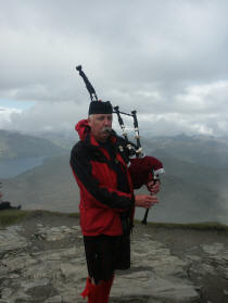 jim at the top of ben lomond for a wedding